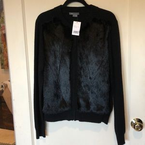 Vince NWT genuine Yak/wool/rabbit fur cardigan